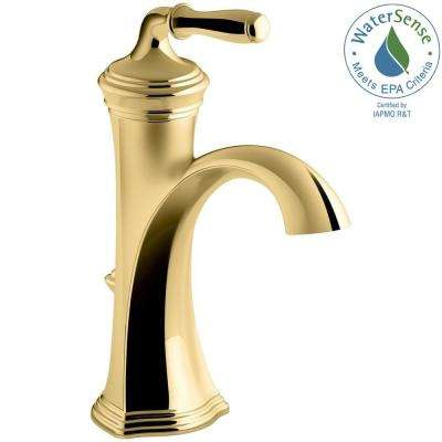 Devonshire Single Hole Single Handle Water Saving Bathroom Faucet In  Vibrant Polished Brass