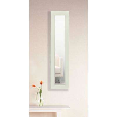 13.5 in. x 37.5 in. Glossy White Vanity Mirror Panel