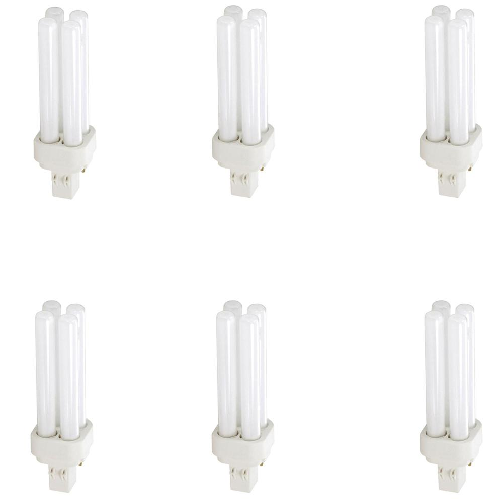 13-Watt GX23-2 CFLni 2-Pin Light Bulb Cool White (4100K) (6-Pack)