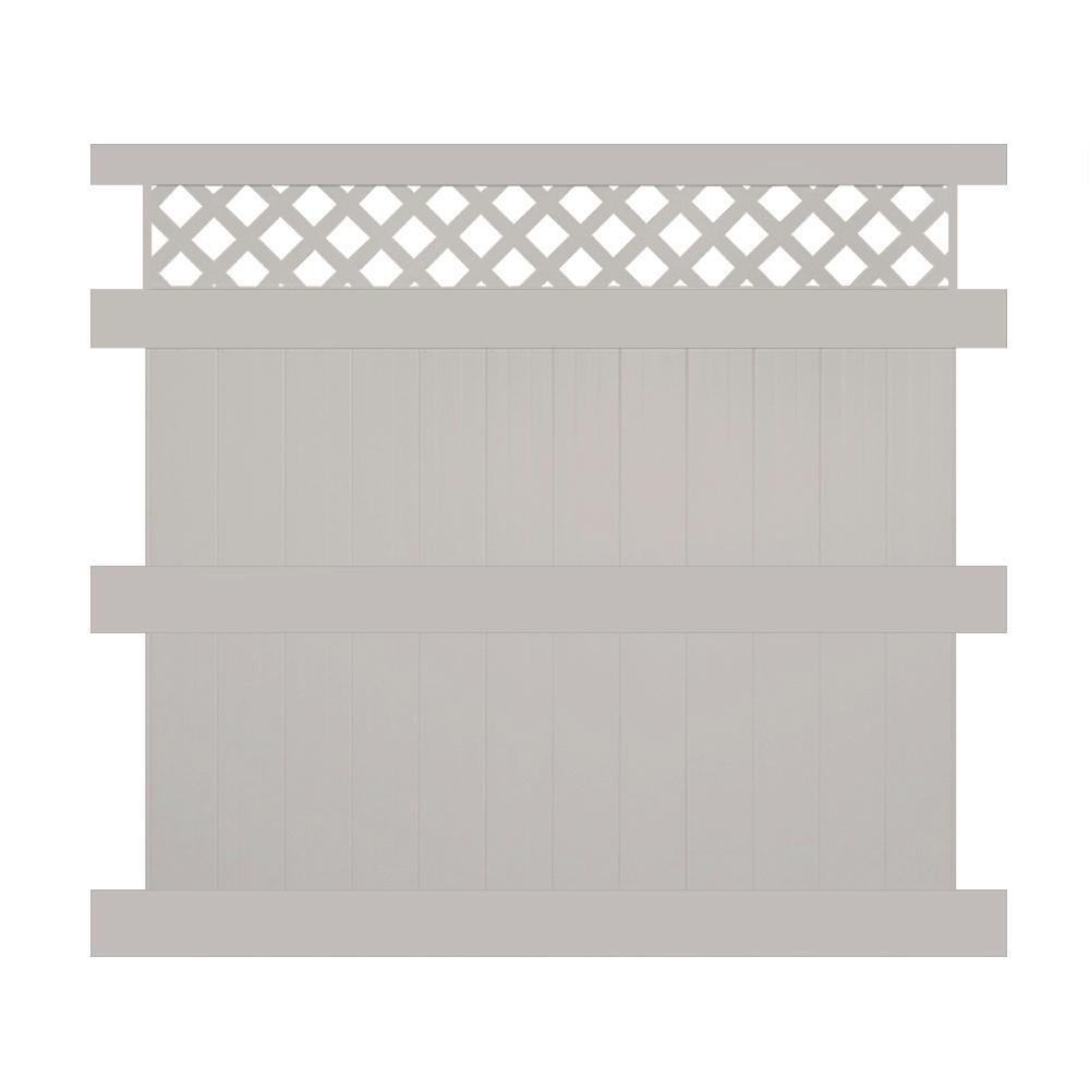 Ashton 8 ft. H x 8 ft. W Tan Vinyl Privacy Fence Panel Kit