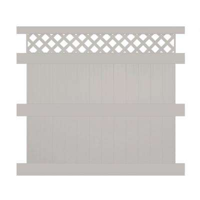Ashton 8 ft. H x 8 ft. W Tan Vinyl Privacy Fence Panel
