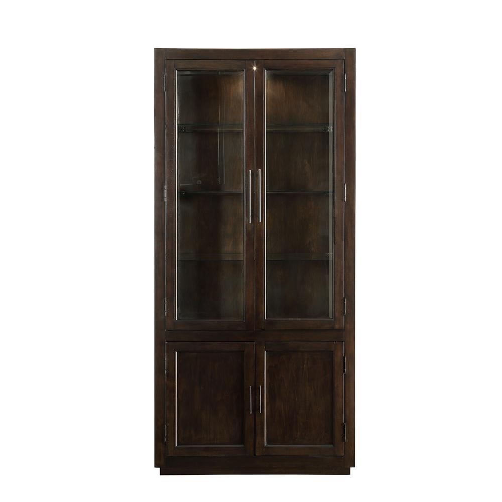 Alanus Walnut Curio Cabinet