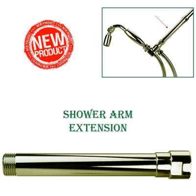 Exclusive 6 in. Solid Metal Shower Arm Extension in Polished Brass