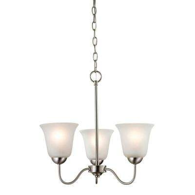 Conway 3-Light Brushed Nickel Ceiling Chandelier