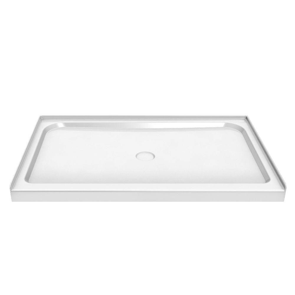 MAAX 60 in. x 42 in. Single Threshold Shower Base in White