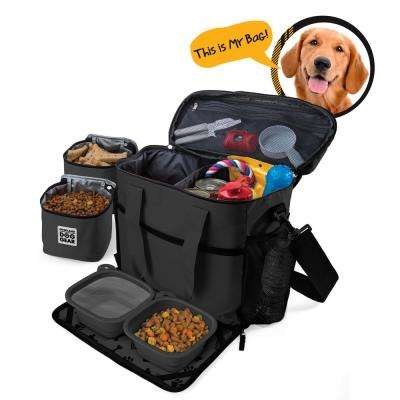 Week Away Travel Bag for Dog Accessory (M/L Dogs) in Black