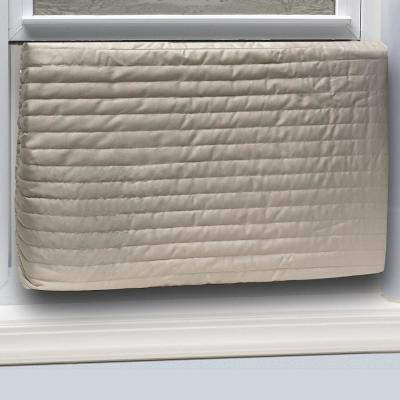 17 in. x 25 in. Inside Fabric Quilted Indoor Air Conditioner Cover