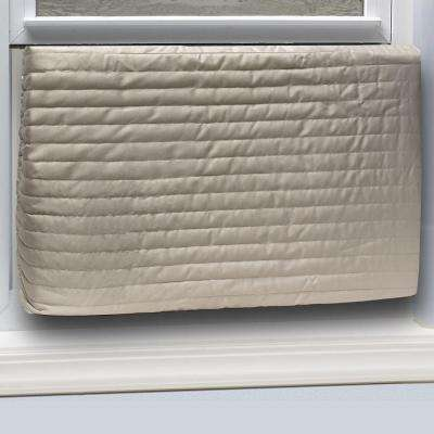 E/O 17 in. x 25 in. Inside Fabric Quilted Indoor Air Conditioner Cover