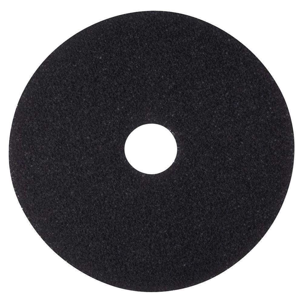12 in. Black Stripping Pads (5 Per Carton)