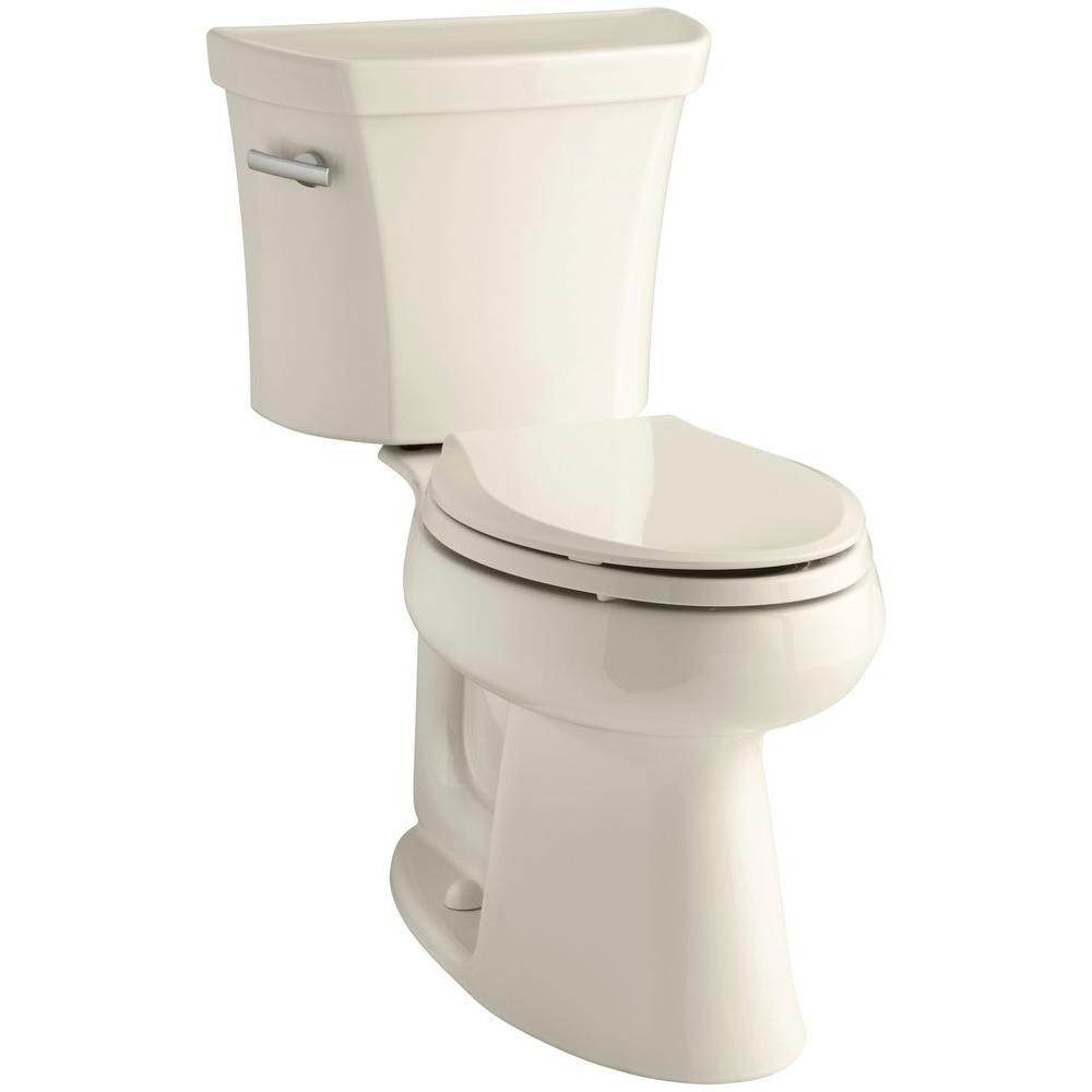 Highline 2-piece 1.6 GPF Single Flush Elongated Toilet in Almond