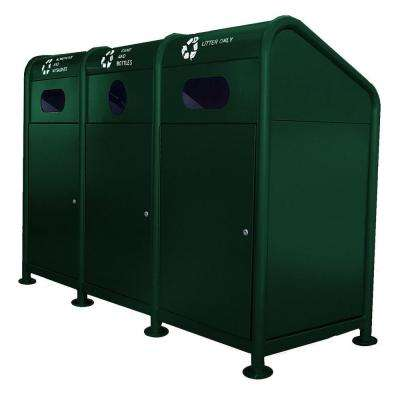 102 Gal. Steel Recycling Station in Green