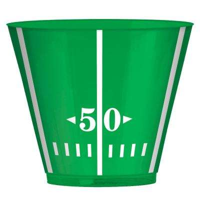3.5 in. x 3 in. 9 oz. Football Field Plastic Tumblers