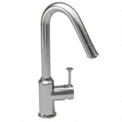 Pekoe Single-Handle Pull-Down Sprayer Kitchen Faucet with Hi-Flow in Stainless Steel