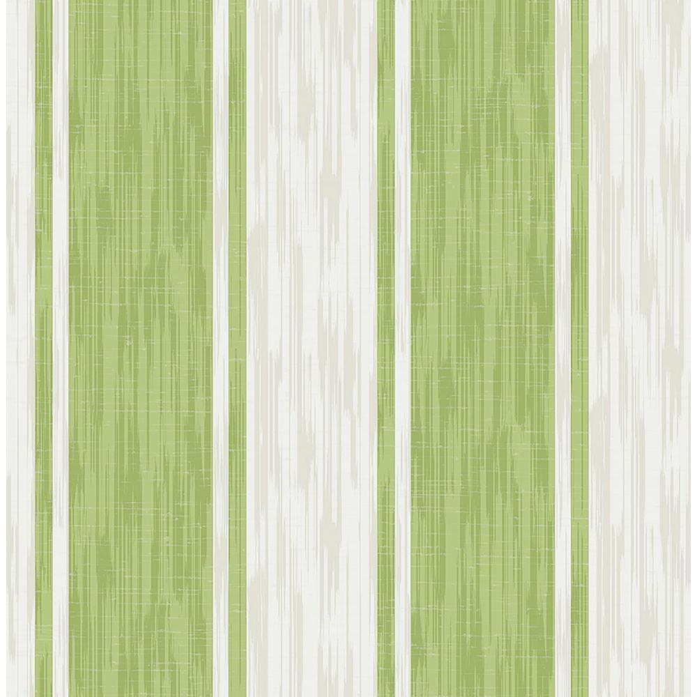 A Street Ryoan Green Stripes Wallpaper Sample