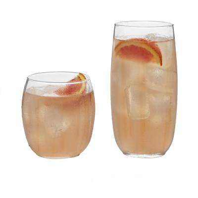 Samba 16-Piece Clear Glass Drinkware Set