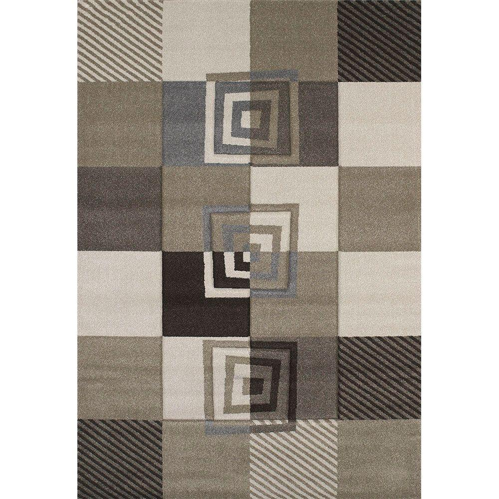 United Weavers Vibes Beige 5 ft. 3 in. x 7 ft. 6 in. Area Rug