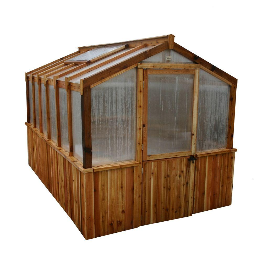 Outdoor Living Today Cedar 8 ft. x 12 ft. Greenhouse Kit