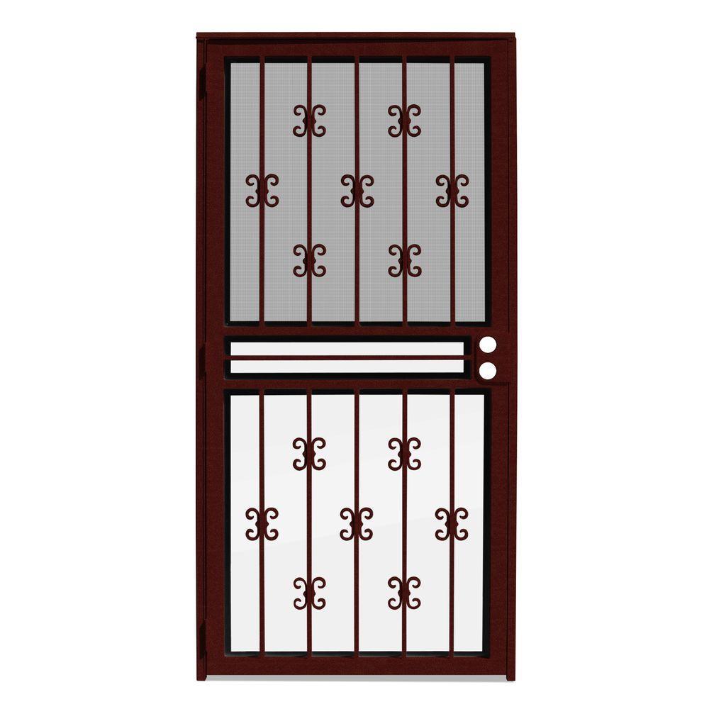 Moorish Lace Recessed Mount Outswing Security Door