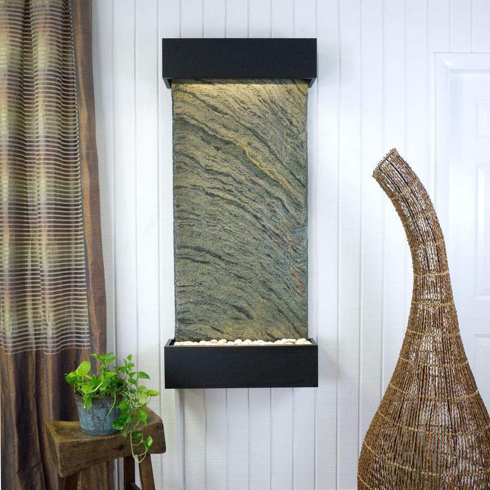 Classic Quarry Large Nojoqui Falls Jeera Slate with Black Onyx Trim Kit Fountain