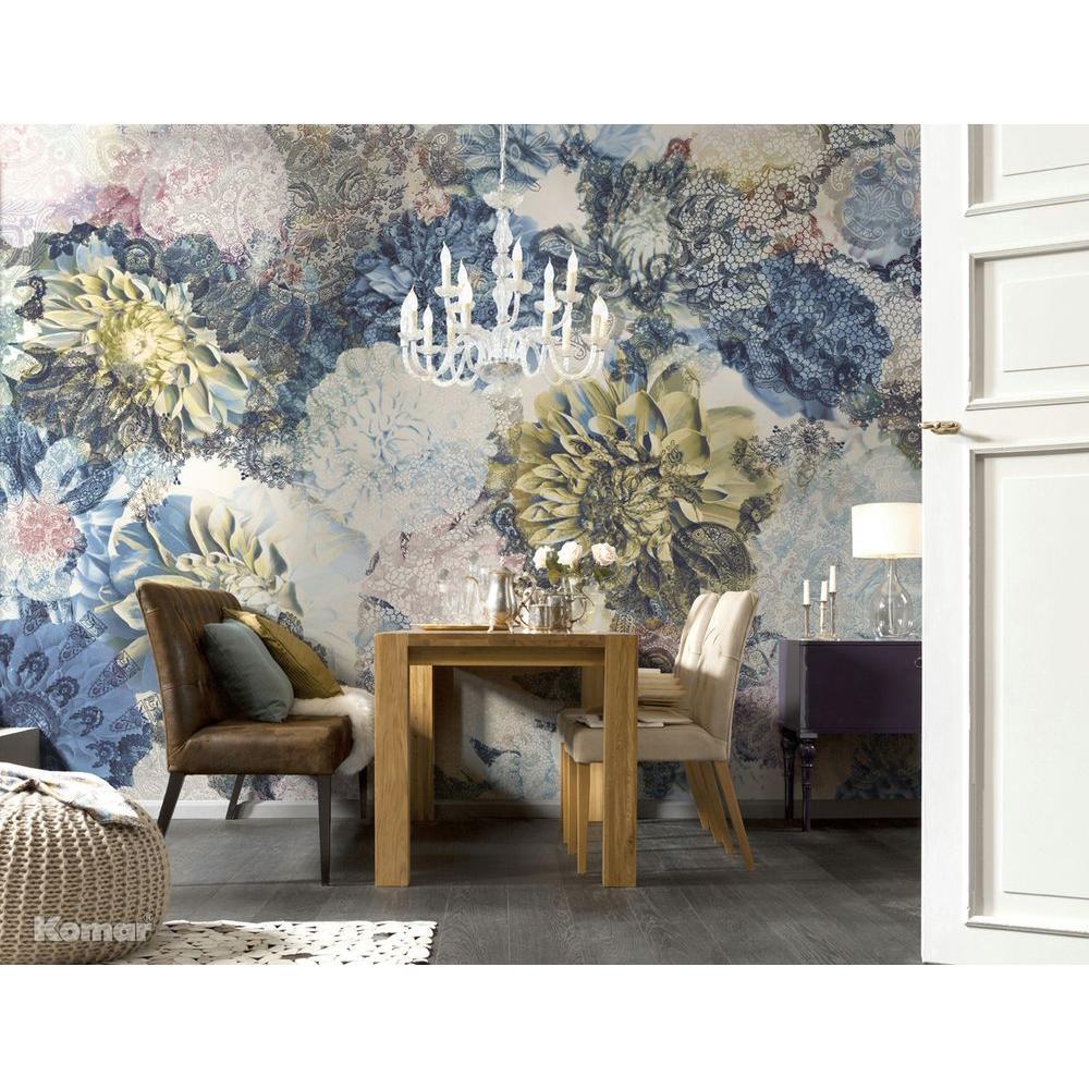100 in. x 145 in. Frisky Flowers Wall Mural
