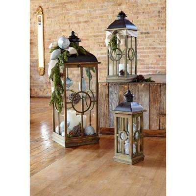 Black/Natural Lantern (Set of 3)