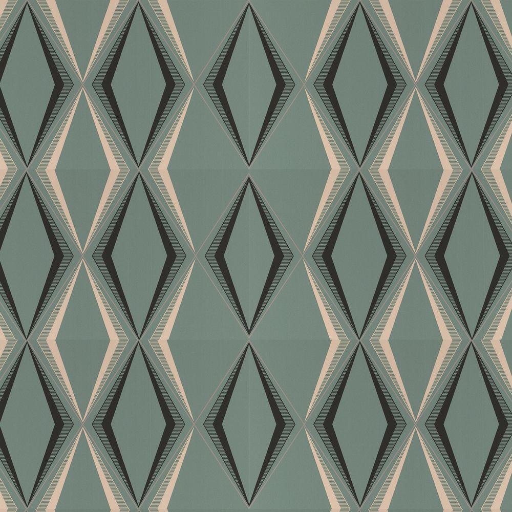 Graham Brown Deco Diamond Green Wallpaper 50 254
