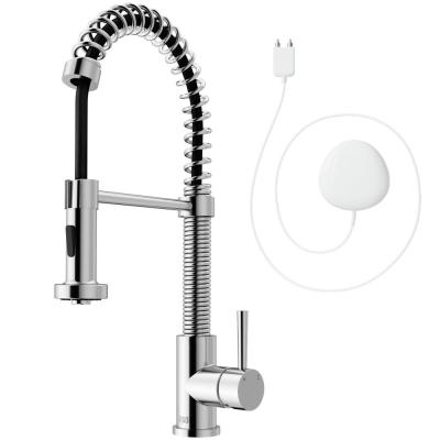 Edison Single-Handle Pull-Down Sprayer Kitchen Faucet with FloodSense Technology in Chrome