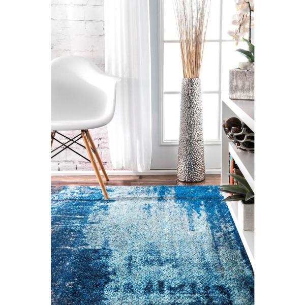 Nuloom Alayna Abstract Blue 4 Ft X 6 Ft Area Rug Rzbd51a 406 The Home Depot