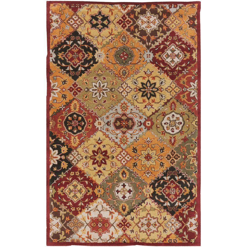 Buckingham Sophia Burgundy 5 ft. x 8 ft. Indoor Area Rug