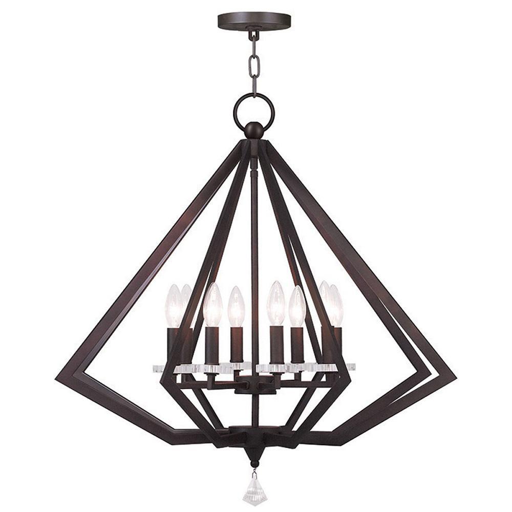 Diamond 8-Light Bronze Chandelier