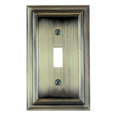 Continental 1 Toggle Wall Plate - Brushed Brass