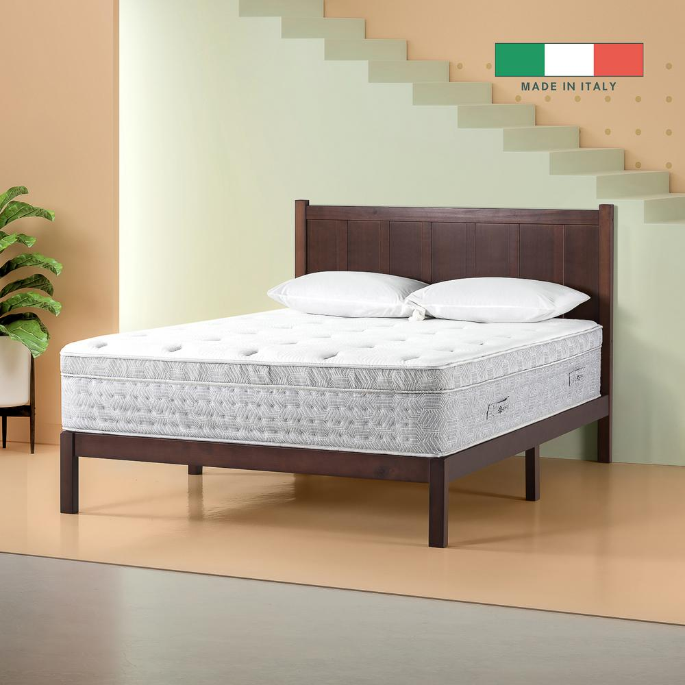 Zinus Italian Made 13 in. Medium-Firm Euro Top Queen Hybrid Spring Mattress was $601.69 now $389.04 (35.0% off)