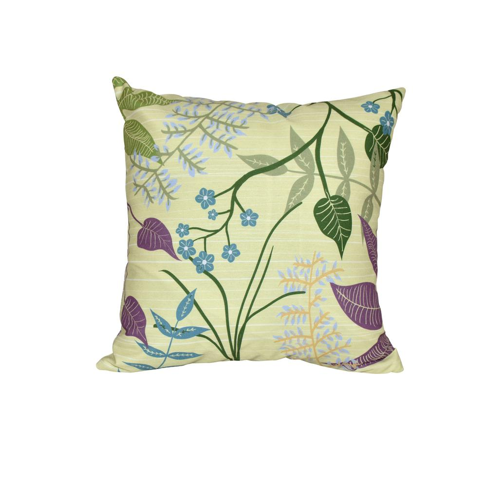 Green Red E by design Decorative Pillow Blue Yellow