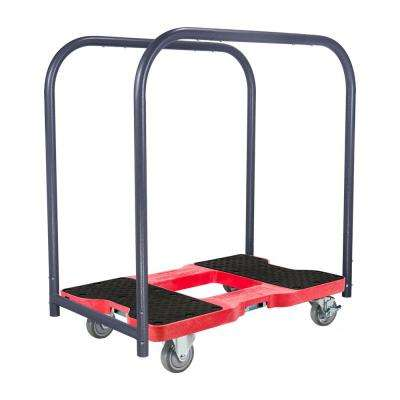 1,500 lb. Capacity Industrial Strength Professional E-Track Panel Cart Dolly in Black