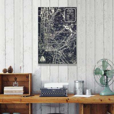 "24 in. x 36 in. ""Silver NYC Lines"" by Wynwood Studio Canvas Wall Art"