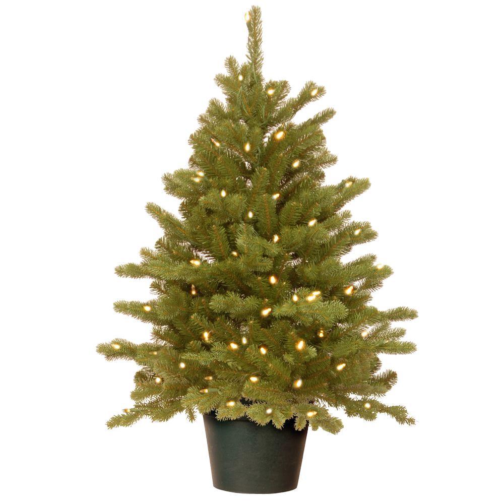 Plantable Christmas Tree.Potted Pre Lit Christmas Trees Artificial Christmas