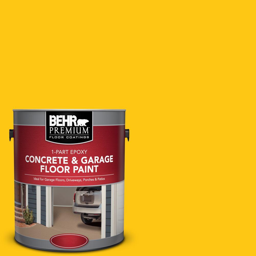 1 gal. #P300-7 Unmellow Yellow 1-Part Epoxy Concrete and Garage Floor Paint