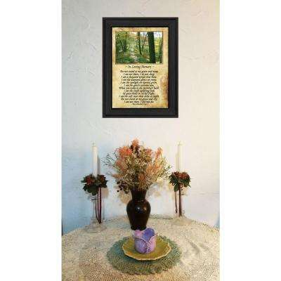 "10 in. x 14 in. ""In Loving Memory"" by Trendy Decor 4U Printed Framed Wall Art"