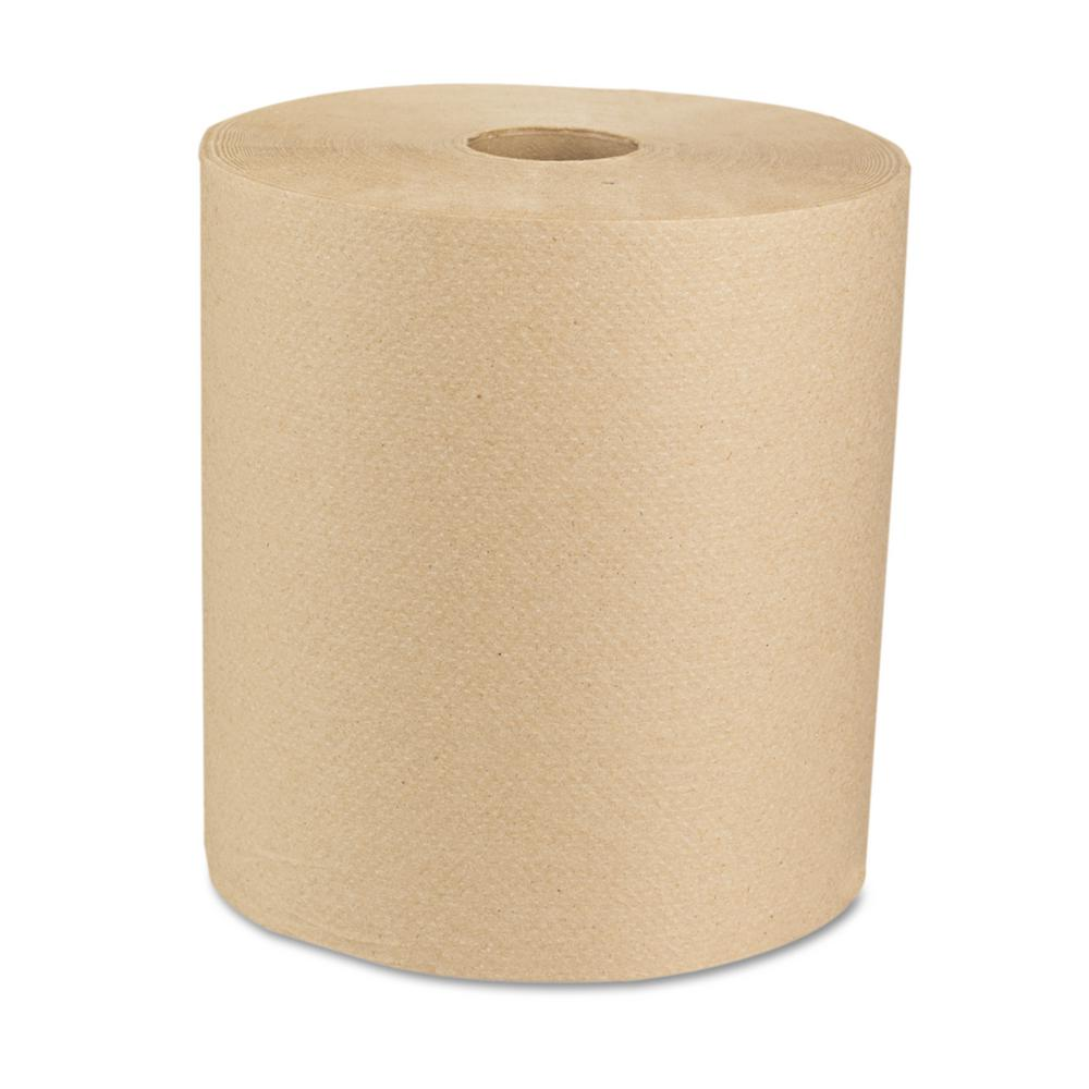 Green 8 in. x 800 ft. Natural Universal Roll Towels (6