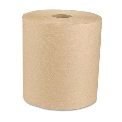 Green 8 in. x 800 ft. Natural Universal Roll Towels (6 Rolls/Carton)