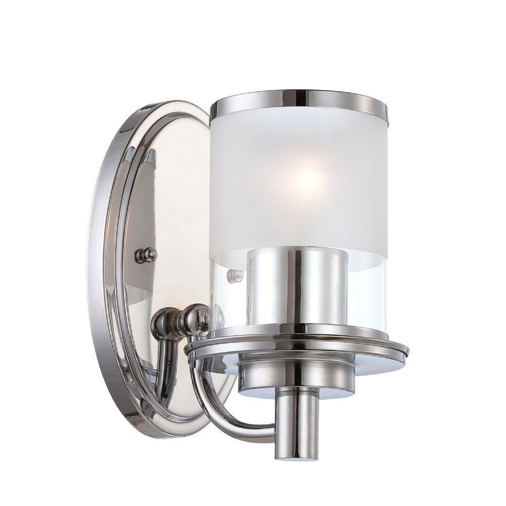 Essence 1-Light Chrome Interior Incandescent Bath Vanity Light