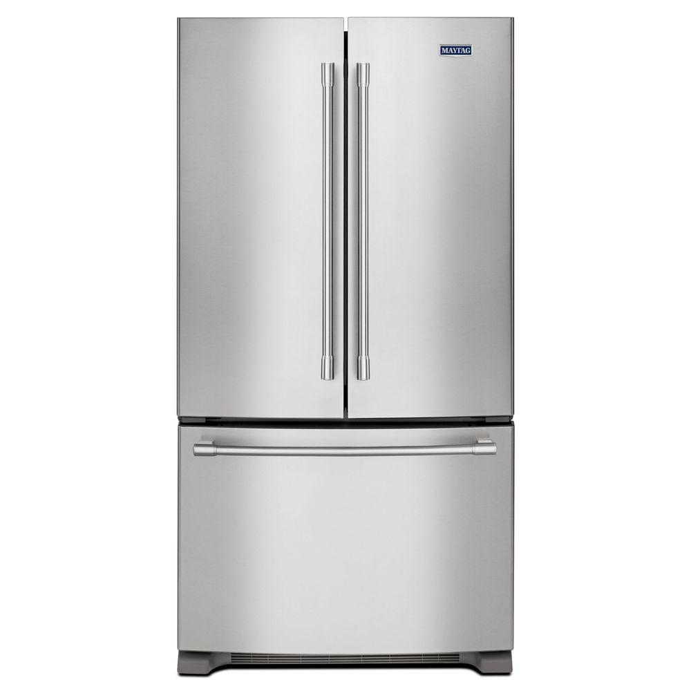 French Door Refrigerator In Fingerprint Resistant Stainless Steel Counter