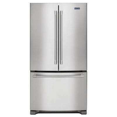 36 in. W 20 cu. ft. French Door Refrigerator in Fingerprint Resistant Stainless Steel, Counter Depth