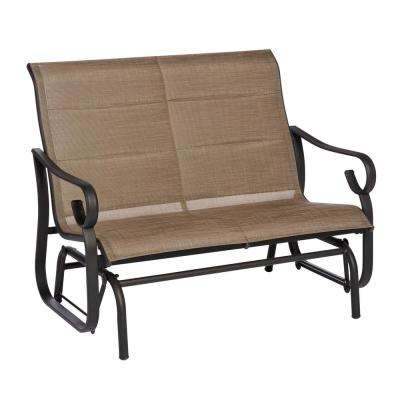 Crestridge Padded Sling Outdoor Glider in Putty