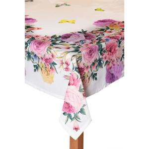 Springfield Gardens 60 in. x 102 in. 100% Cotton Tablecloth