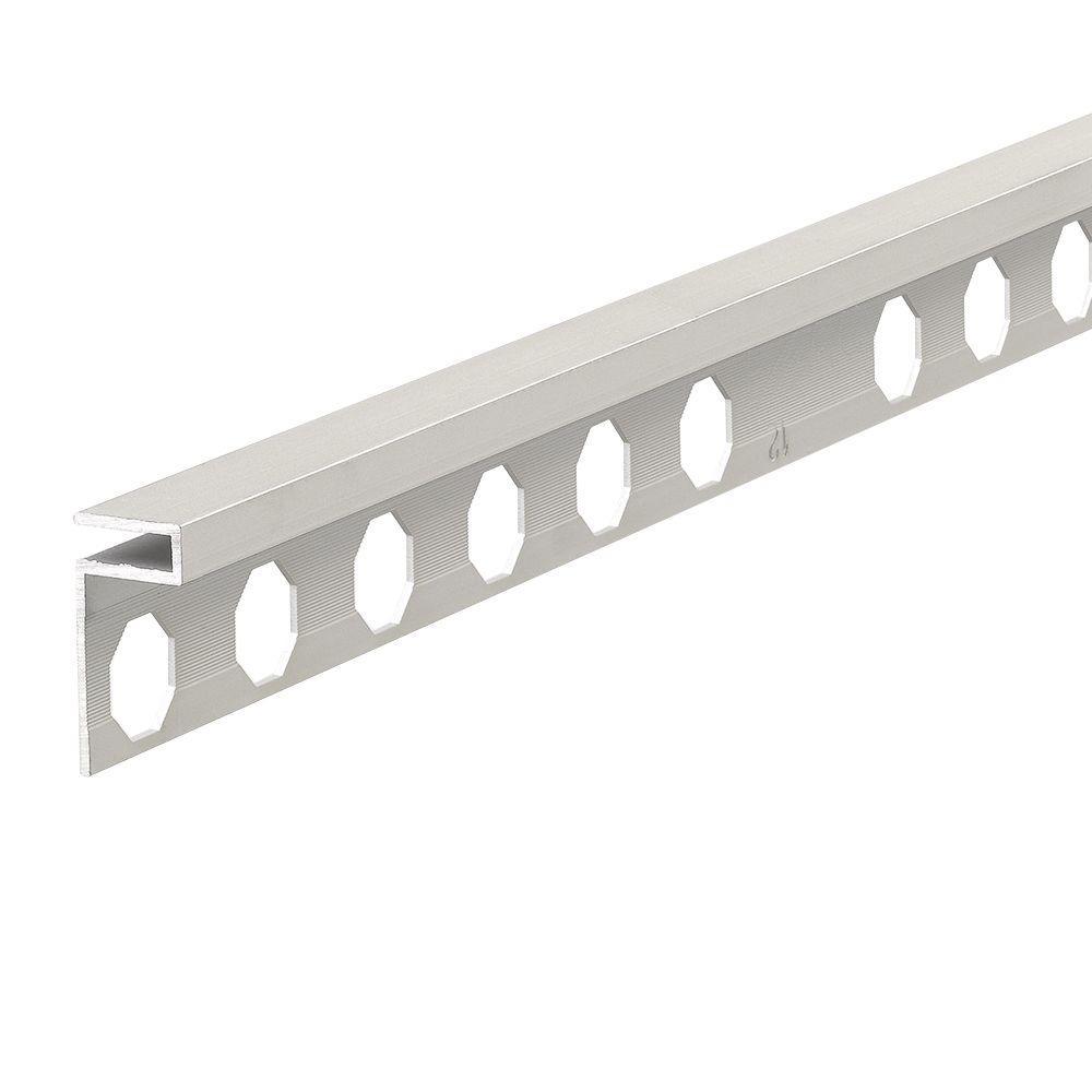 Novolistel 3 XS Matt Silver 1/2 in. x 98-1/2 in. Aluminum Tile Edging Trim