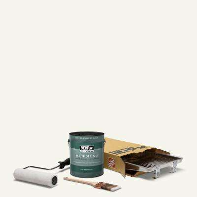 1 gal. #75 Polar Bear Extra Durable Semi-Gloss Enamel Interior Paint and 5-Piece Wooster Set All-in-One Project Kit