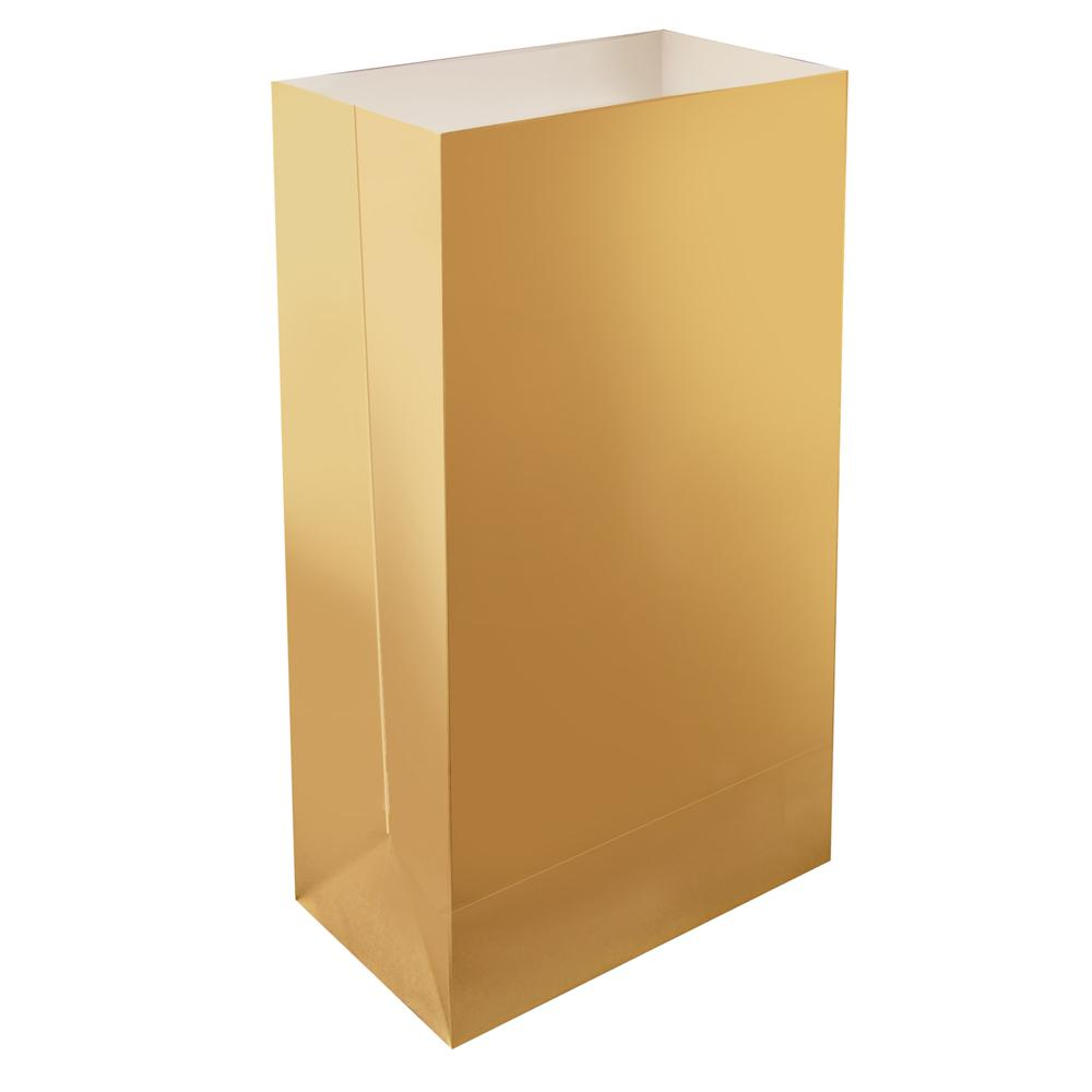11 in. Gold Luminaria Bags (Count of 24)