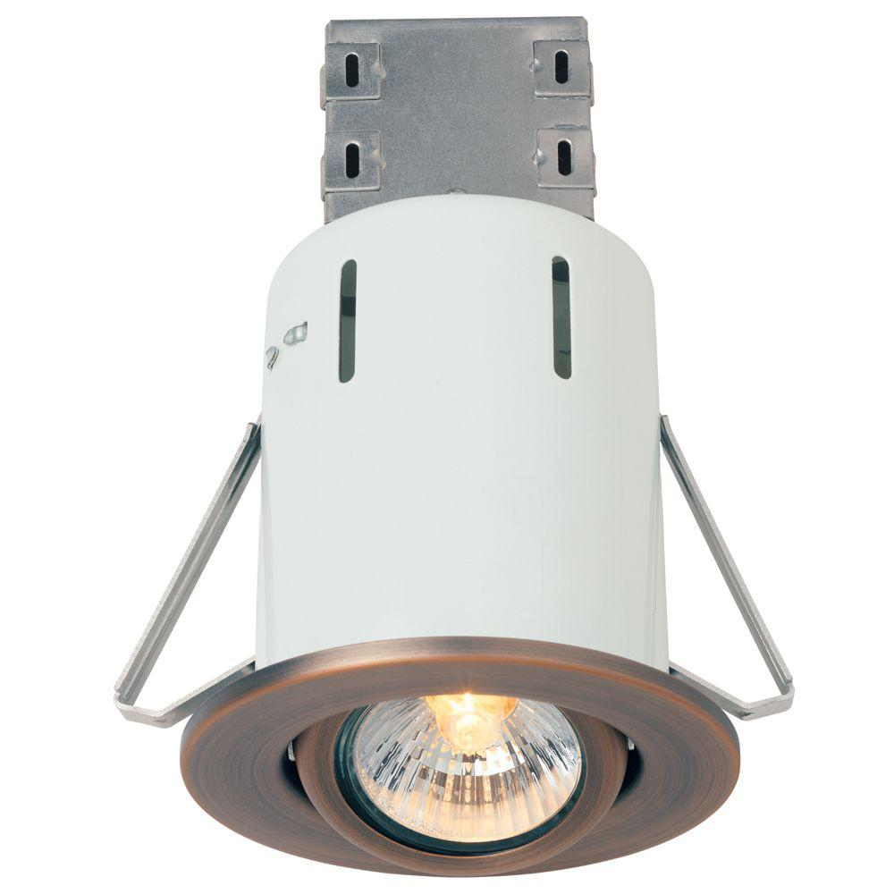 Commercial electric 3 in brushed copper bronze recessed - Retrofit bathroom fan with light ...