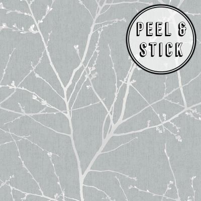 Transform Branches Duck Egg Vinyl Peelable Roll (Covers 30.75 sq. ft.)